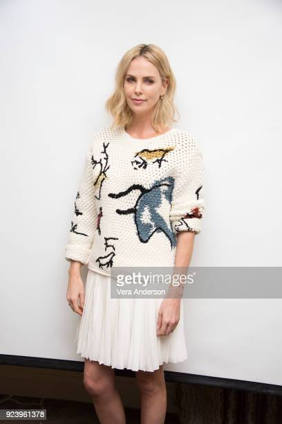 Charlize Theron at the 'Gringo' Press Conference at the Four Seasons Hotel on February 24 2018 in Beverly Hills California