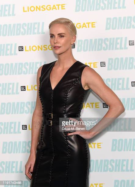 Charlize Theron attends a special BAFTA QA for her upcoming film Bombshell at the Everyman Broadgate on December 03 2019 in London England