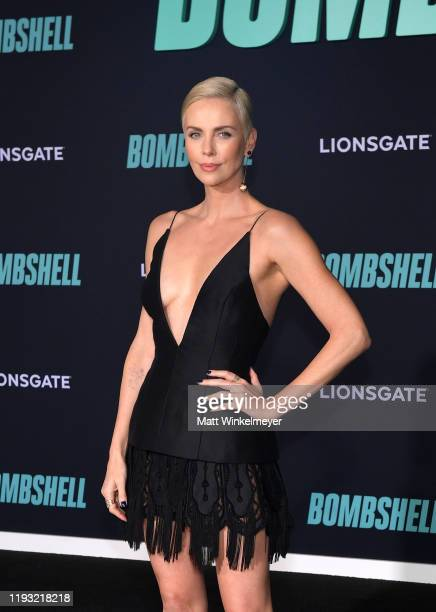 """Charlize Theron attends a Special Screening of Liongate's """"Bombshell"""" at Regency Village Theatre on December 10, 2019 in Westwood, California."""