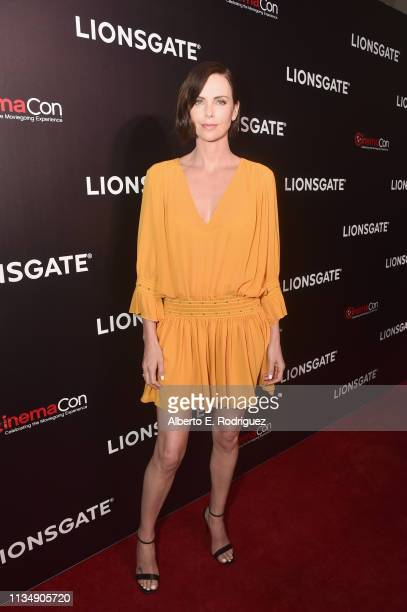 """Charlize Theron attends CinemaCon 2019 Lionsgate Invites You to An Exclusive Presentation and Screening of """"Long Shot"""" at The Colosseum at Caesars..."""
