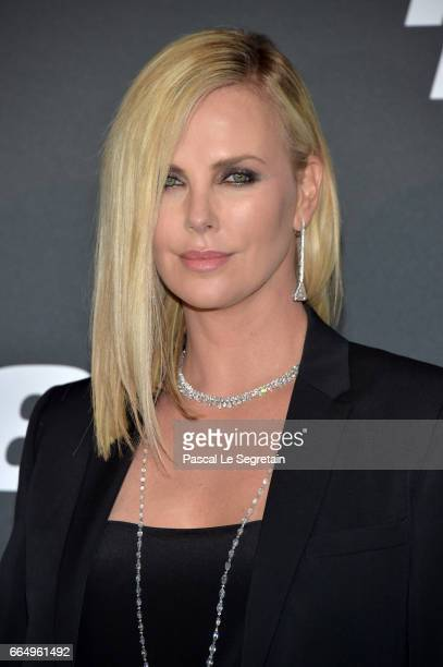 Charlize Theron attends Fast Furious 8 Premiere at Le Grand Rex on April 5 2017 in Paris France