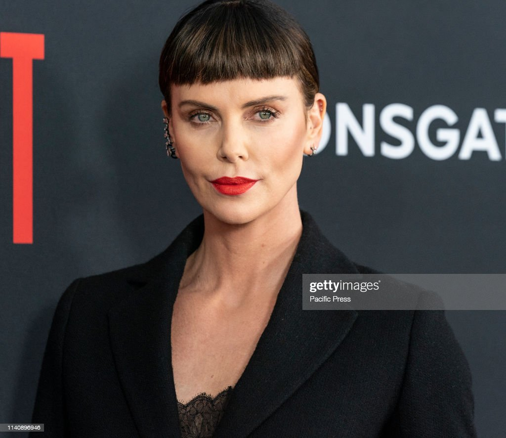 Charlize Theron attends premiere of Long Shot at AMC Lincoln... : News Photo