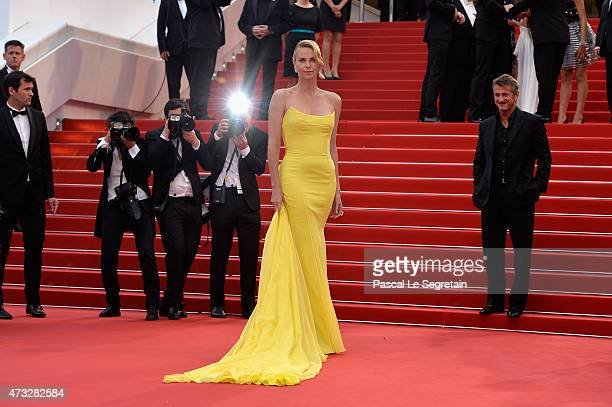 Charlize Theron attends Premiere of Mad Max Fury Road during the 68th annual Cannes Film Festival on May 14 2015 in Cannes France