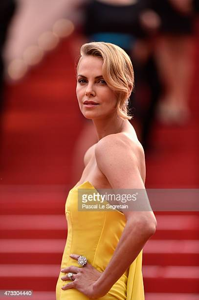 "Charlize Theron attends Premiere of ""Mad Max: Fury Road"" during the 68th annual Cannes Film Festival on May 14, 2015 in Cannes, France."