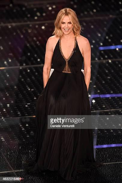Charlize Theron attends second night 65th Festival di Sanremo 2015 at Teatro Ariston on February 11 2015 in Sanremo Italy