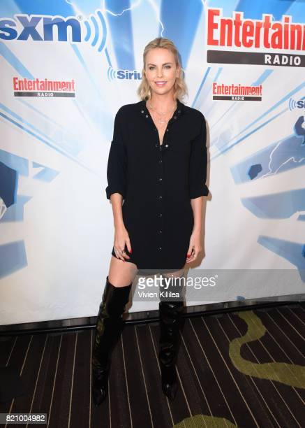 Charlize Theron attends SiriusXM's Entertainment Weekly Radio Channel Broadcasts From Comic Con 2017 at Hard Rock Hotel San Diego on July 22 2017 in...