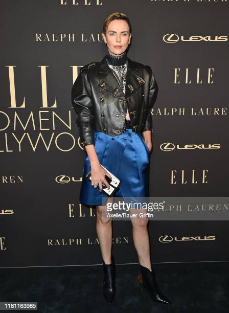 Charlize Theron attends the 2019 ELLE Women In Hollywood at the Beverly Wilshire Four Seasons Hotel on October 14 2019 in Beverly Hills California