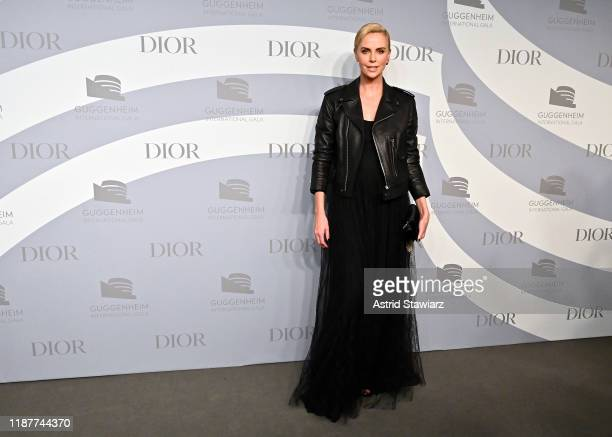 Charlize Theron attends the 2019 Guggenheim International Gala at Solomon R Guggenheim Museum on November 14 2019 in New York City