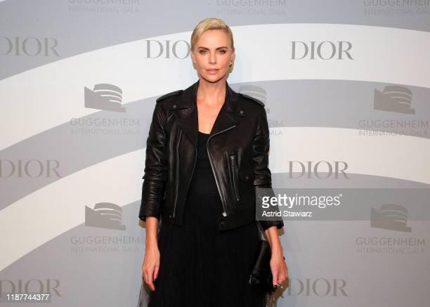 Charlize Theron attends the 2019 Guggenheim International Gala at Solomon R Guggenheim Museum on November 14 2019 in New York City