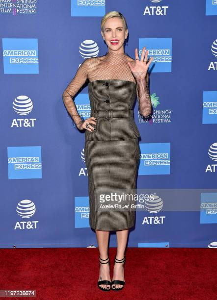 Charlize Theron attends the 2020 Annual Palm Springs International Film Festival Film Awards Gala on January 02 2020 in Palm Springs California