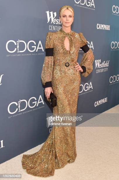 Charlize Theron attends the 22nd CDGA at The Beverly Hilton Hotel on January 28 2020 in Beverly Hills California