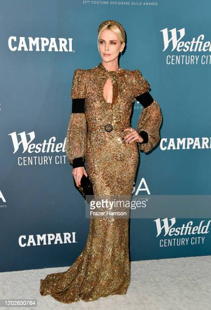 Charlize Theron attends the 22nd CDGA at The Beverly Hilton Hotel on January 28, 2020 in Beverly Hills, California.