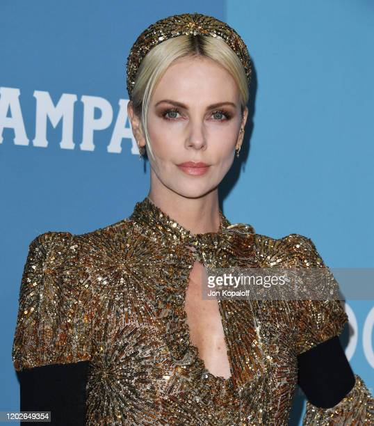 Charlize Theron attends the 22nd Costume Designers Guild Awards at The Beverly Hilton Hotel on January 28 2020 in Beverly Hills California