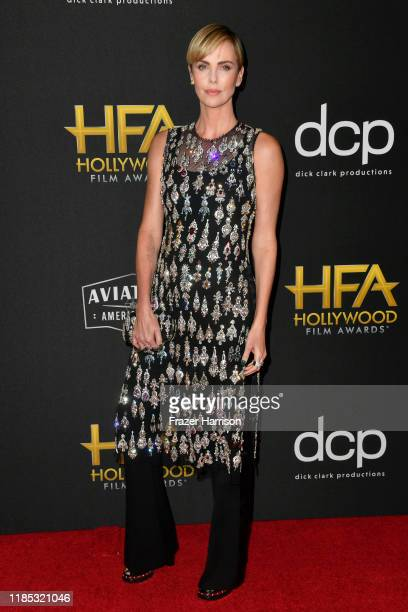 Charlize Theron attends the 23rd Annual Hollywood Film Awards at The Beverly Hilton Hotel on November 03 2019 in Beverly Hills California