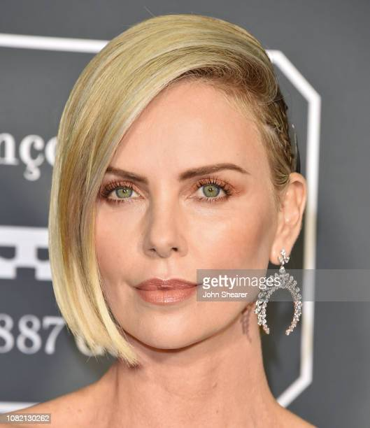 Charlize Theron attends The 24th Annual Critics' Choice Awards at Barker Hangar on January 13 2019 in Santa Monica California