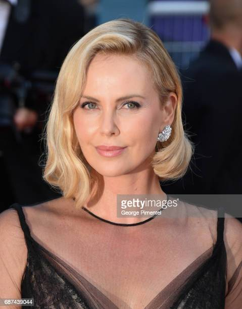 Charlize Theron attends the 70th Anniversary screening during the 70th annual Cannes Film Festival at Palais des Festivals on May 23 2017 in Cannes...