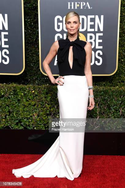 Charlize Theron attends the 76th Annual Golden Globe Awards at The Beverly Hilton Hotel on January 6 2019 in Beverly Hills California