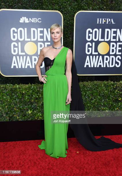 Charlize Theron attends the 77th Annual Golden Globe Awards at The Beverly Hilton Hotel on January 05 2020 in Beverly Hills California