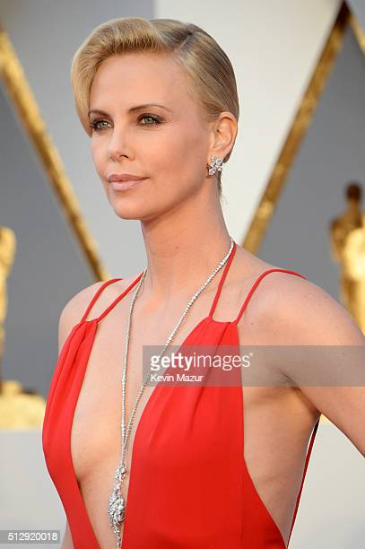 Charlize Theron attends the 88th Annual Academy Awards at Hollywood Highland Center on February 28 2016 in Hollywood California