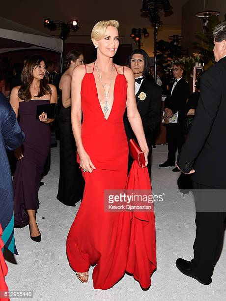 Charlize Theron attends the 88th Annual Academy Awards at Loews Hollywood Hotel on February 28 2016 in Hollywood California