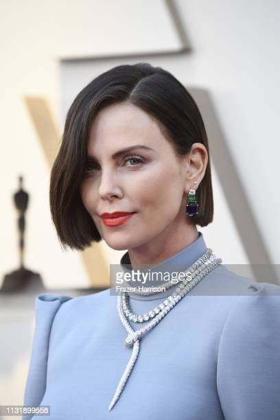Charlize Theron attends the 91st Annual Academy Awards at Hollywood and Highland on February 24, 2019 in Hollywood, California.
