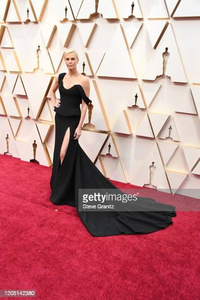Charlize Theron attends the 92nd Annual Academy Awards at Hollywood and Highland on February 09, 2020 in Hollywood, California.
