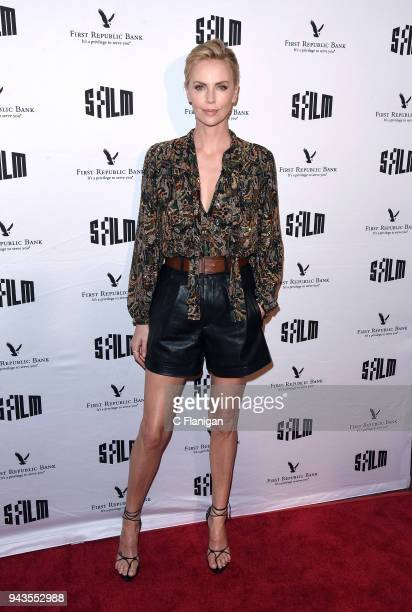 Charlize Theron attends the A Tribute To Charlize Theron 'Tully' during the 2018 San Francisco Film Festival at Castro Theatre on April 8 2018 in San...