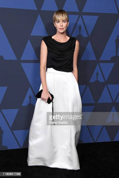 Charlize Theron attends the Academy Of Motion Picture Arts And Sciences' 11th Annual Governors Awards at The Ray Dolby Ballroom at Hollywood &...