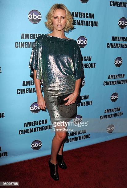 Charlize Theron attends the at American Cinematheque 24th Annual Award Presentation To Matt Damon at The Beverly Hilton hotel on March 27, 2010 in...