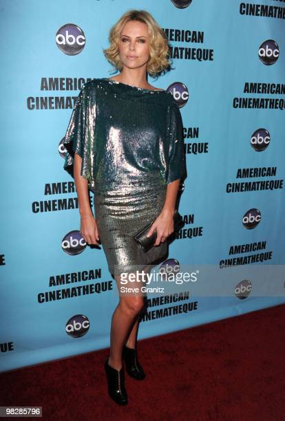 Charlize Theron attends the at American Cinematheque 24th Annual Award Presentation To Matt Damon at The Beverly Hilton hotel on March 27 2010 in...