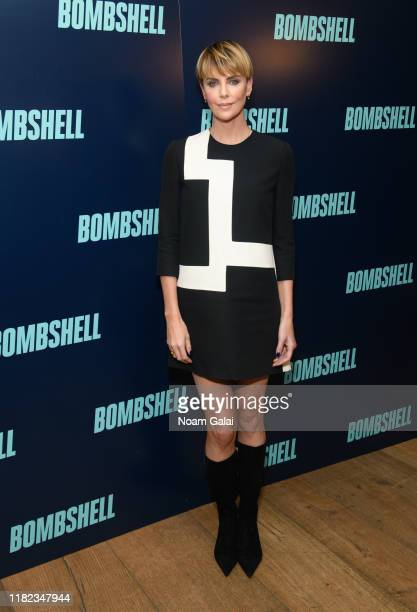 Charlize Theron attends the Bombshell New York Screening on October 20 2019 in New York City
