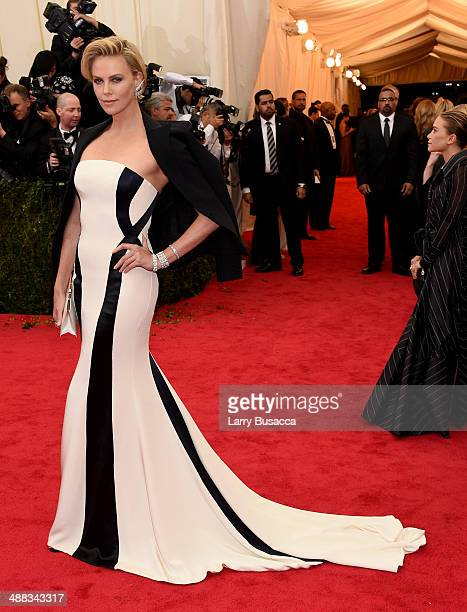 Charlize Theron attends the 'Charles James Beyond Fashion' Costume Institute Gala at the Metropolitan Museum of Art on May 5 2014 in New York City