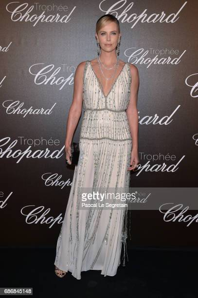 Charlize Theron attends the Chopard Trophy photocall at Hotel Martinez on May 22 2017 in