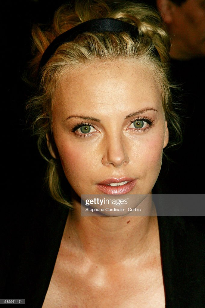 Charlize Theron attends the Christian Dior 2005-2006 'Haute Couture' Fall/Winter fashion collection.