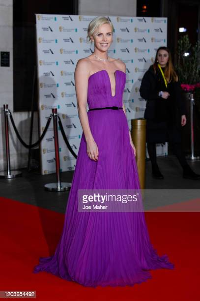 Charlize Theron attends the EE British Academy Film Awards 2020 After Party at The Grosvenor House Hotel on February 02, 2020 in London, England.