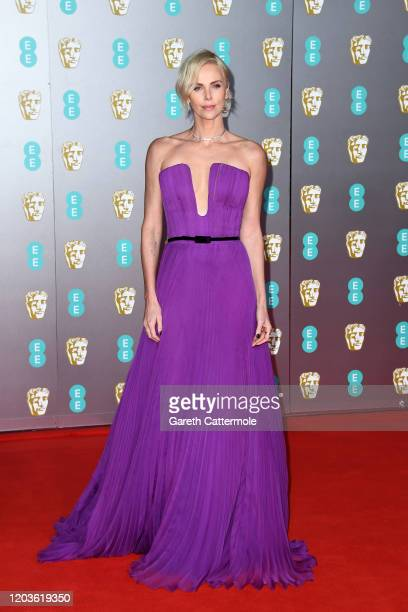 Charlize Theron attends the EE British Academy Film Awards 2020 at Royal Albert Hall on February 02 2020 in London England