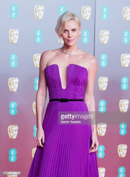 Charlize Theron attends the EE British Academy Film Awards 2020 at Royal Albert Hall on February 02, 2020 in London, England.