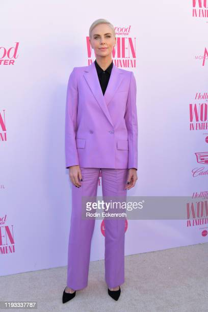 Charlize Theron attends The Hollywood Reporter's Annual Women in Entertainment Breakfast Gala at Milk Studios on December 11 2019 in Hollywood...