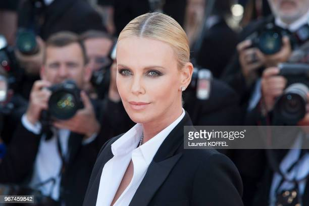 Charlize Theron attends 'The Last Face' Premiere during the 69th annual Cannes Film Festival at the Palais des Festivals on May 20 2016 in Cannes...