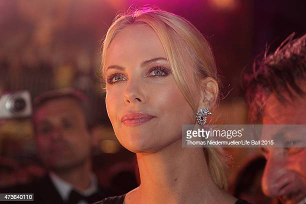 Charlize Theron attends the Life Ball 2015 at City Hall on May 16 2015 in Vienna Austria