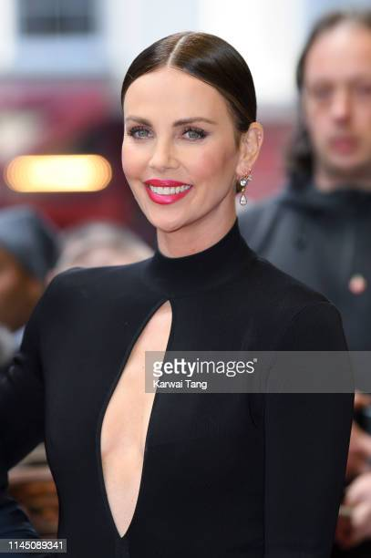 """Charlize Theron attends the """"Long Shot"""" special screening at Curzon Cinema Mayfair on April 25, 2019 in London, England."""