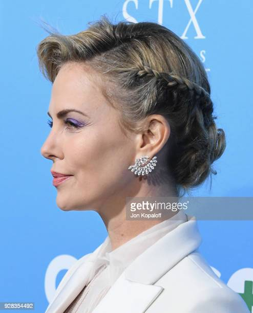 Charlize Theron attends the Los Angeles Premiere Gringo at Regal LA Live Stadium 14 on March 6 2018 in Los Angeles California