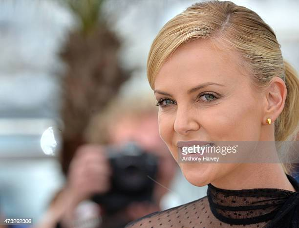 Charlize Theron attends the Mad Max Fury Road photocall during the 68th annual Cannes Film Festival on May 14 2015 in Cannes France
