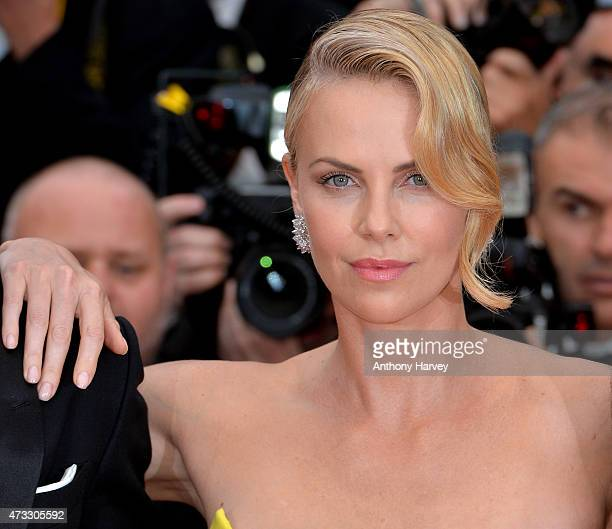 Charlize Theron attends the Mad Max Fury Road premiere during the 68th annual Cannes Film Festival on May 14 2015 in Cannes France