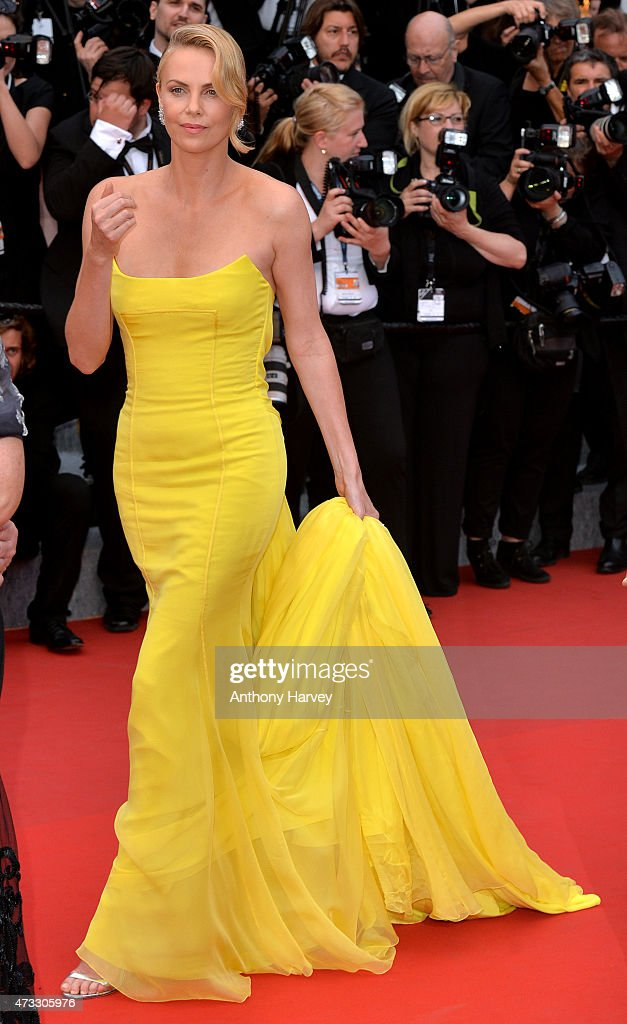 Charlize Theron attends the 'Mad Max: Fury Road' premiere during the 68th annual Cannes Film Festival on May 14, 2015 in Cannes, France.