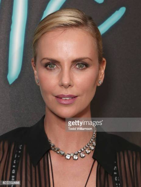 Charlize Theron attends the premiere Of Focus Features' 'Atomic Blonde' at The Theatre at Ace Hotel on July 24 2017 in Los Angeles California