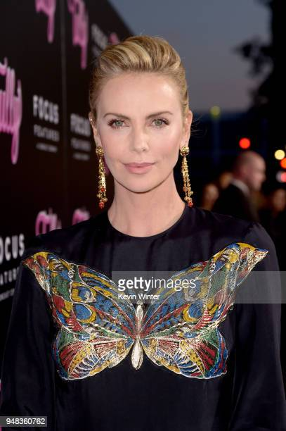 Charlize Theron attends the premiere of Focus Features' 'Tully' at Regal LA Live Stadium 14 on April 18 2018 in Los Angeles California