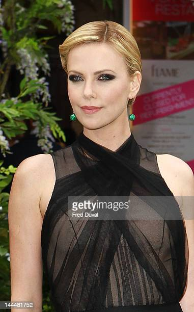Charlize Theron attends the premiere of 'Snow White And The Huntsman' at Empire Leicester Square on May 14, 2012 in London, England.