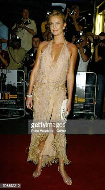 Charlize Theron attends the premiere of 'The Italian Job' at the Empire Cinema in Leicester Square