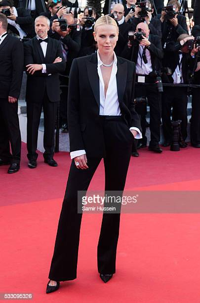 """Charlize Theron attends the screening of """"The Last Face"""" at the annual 69th Cannes Film Festival at Palais des Festivals on May 20, 2016 in Cannes,..."""